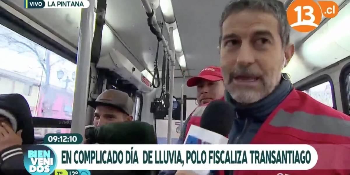 Polo Ramírez se transformó en fiscalizador del Transantiago y fue duramente criticado en redes sociales