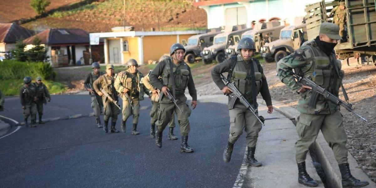 Ejército detalla las acciones realizadas en estado de Sitio en San Marcos