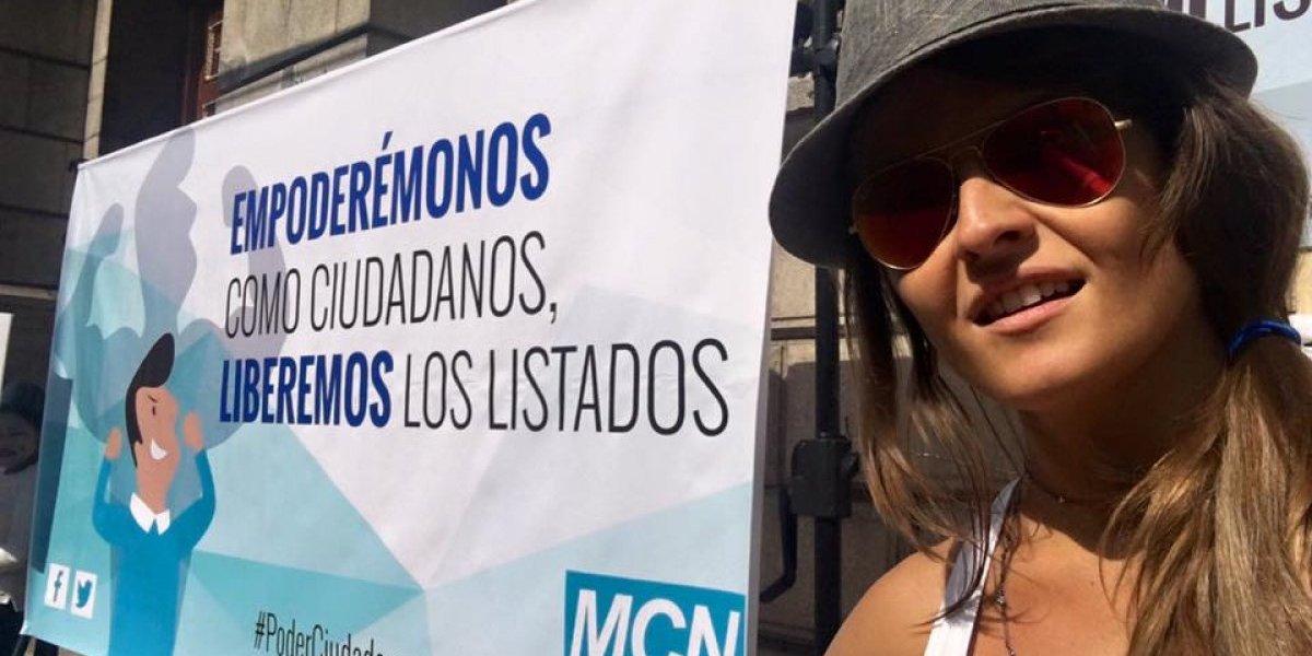 Gloria Álvarez y cuatro personas más renuncian al Movimiento Cívico Nacional