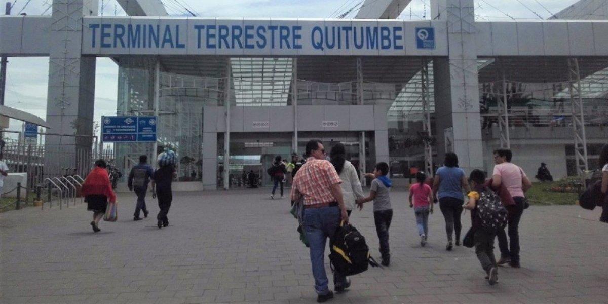 Se mantienen suspendidas operaciones de transporte interprovincial en terminales terrestres Quitumbe y Carcelén