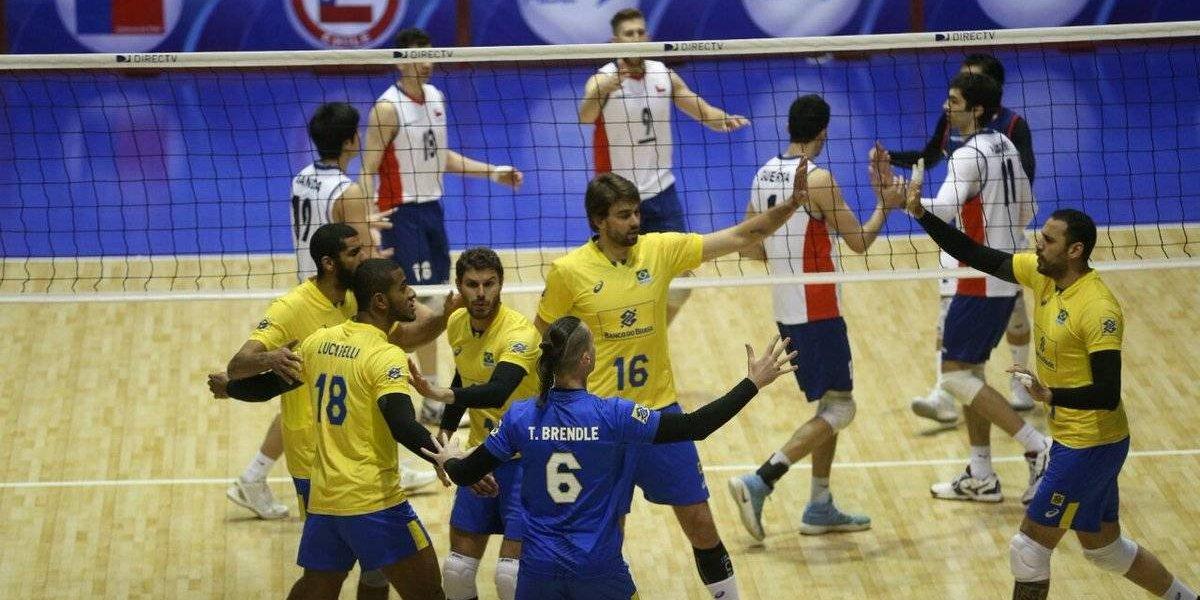 Chile cayó luchando ante el gigante Brasil en semifinales del Sudamericano de vóleibol