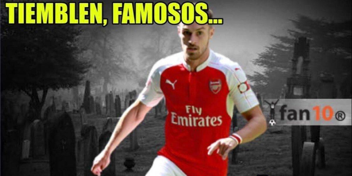 Ramsey anota gol y los memes de la 'maldición' no se hacen esperar