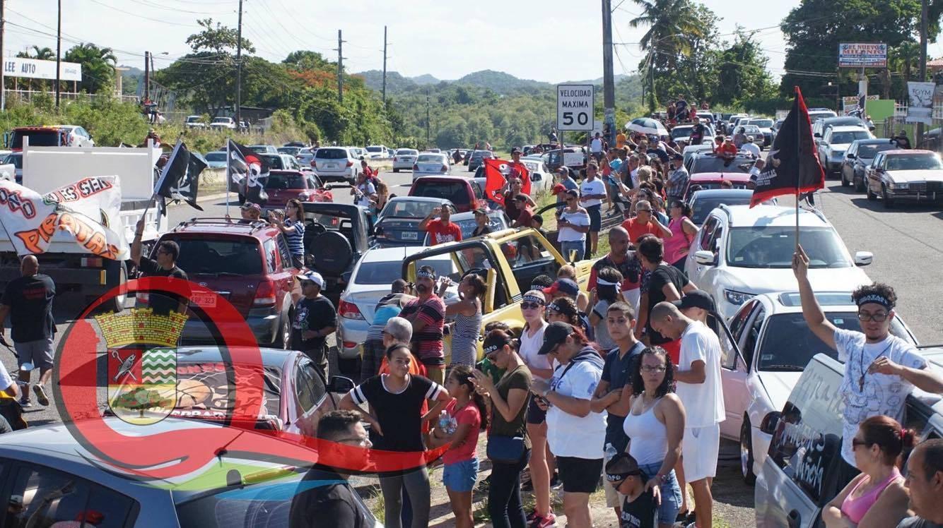 Quebradillas celebró ayer el campeonato de los Piratas con una gran caravana. / Municipio de Quebradillas