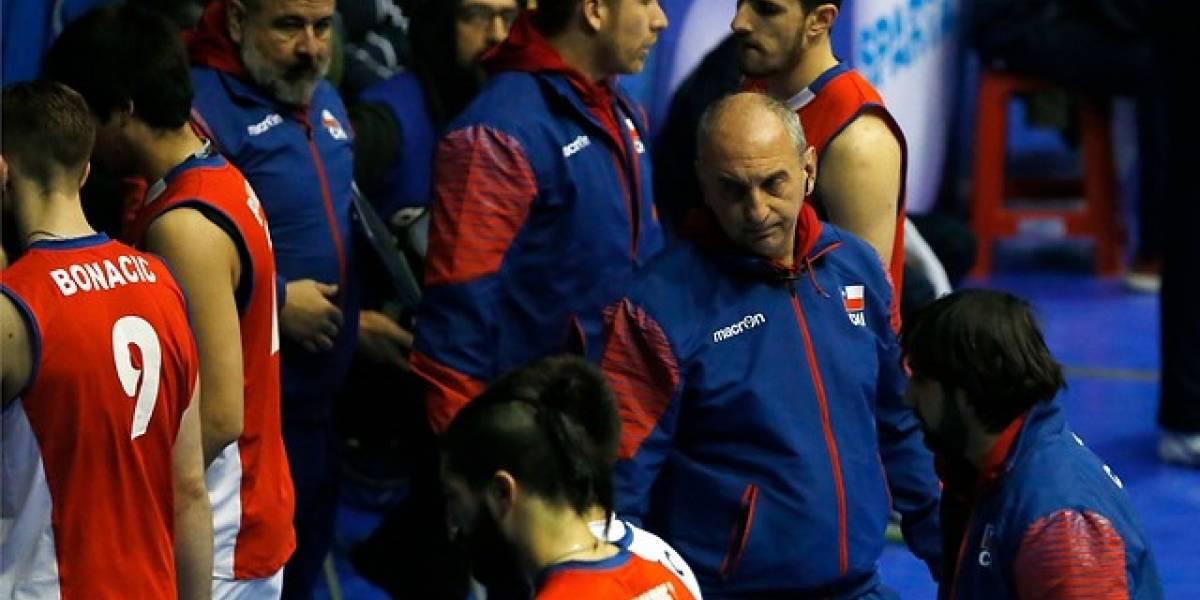 """La crítica del DT de la Roja del vóleibol: """"Este Sudamericano no es un plus, era lo mínimo"""""""
