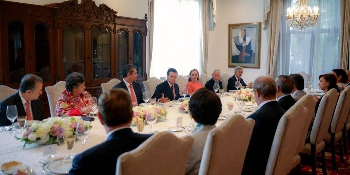 Enrique Peña Nieto se reúne con dirigentes y ex presidentes del PRI