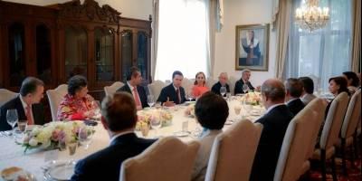 Reunión del presidente Peña Nieto con líderes del PRI