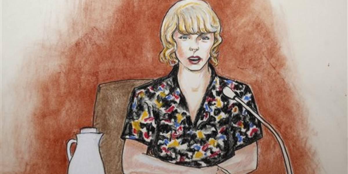 Guardaespaldas: Vi a locutor tocar a Taylor Swift