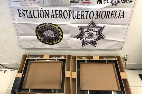 México: Hallan droga escondida en cuadros con imágenes religiosas