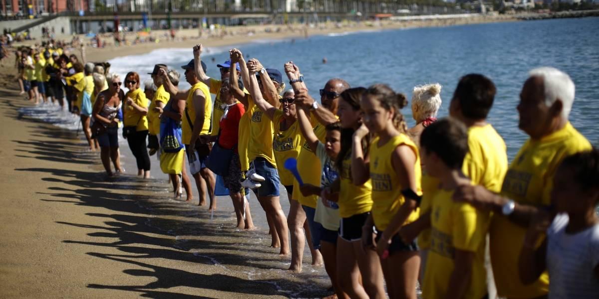 Protestan contra la sobreexplotación turística en Barcelona