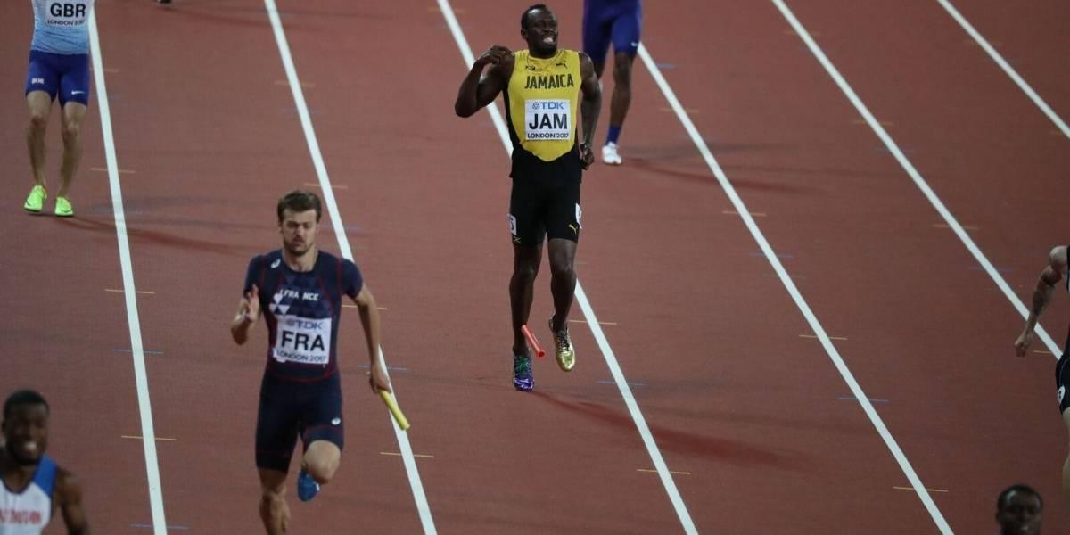 EN IMÁGENES. El triste adiós de Usain Bolt en el Mundial de atletismo