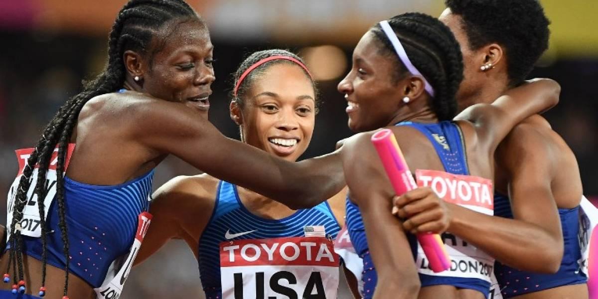 Allyson Felix alcanzó su 16ª medalla en mundiales tras conseguir oro en 4x400