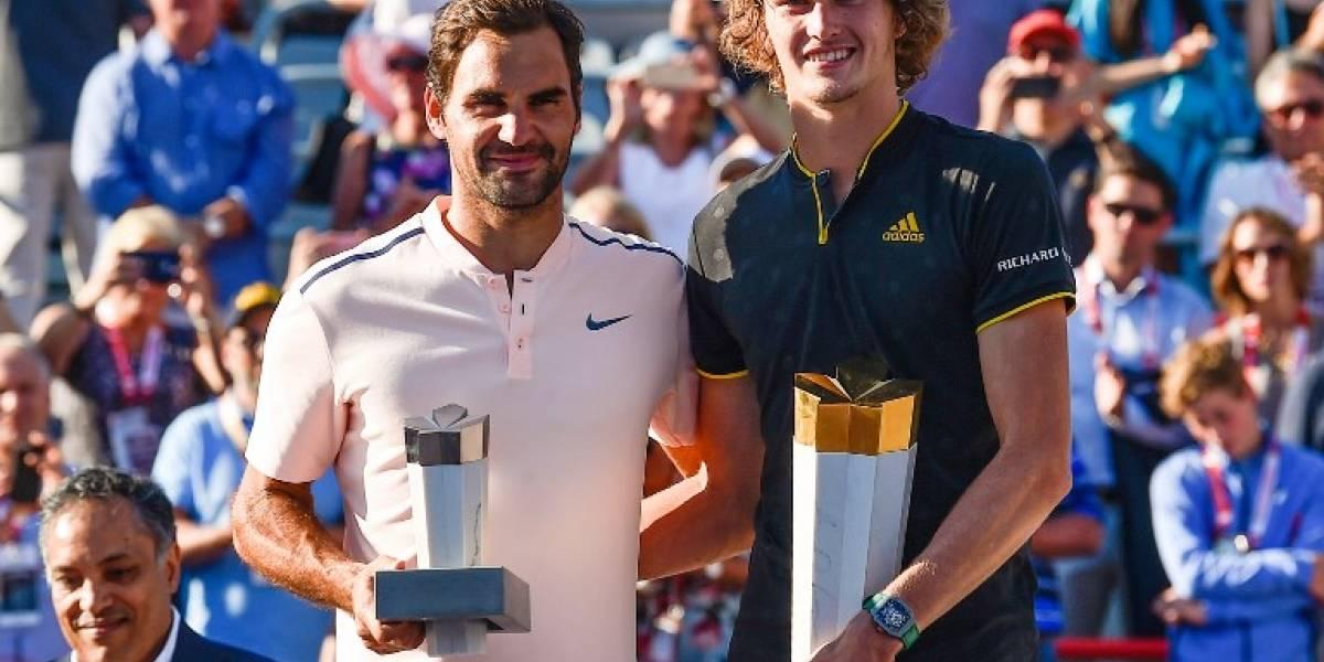 Federer cayó en la final de Montreal ante Zverev y resignó puntos en su batalla por el Nº1