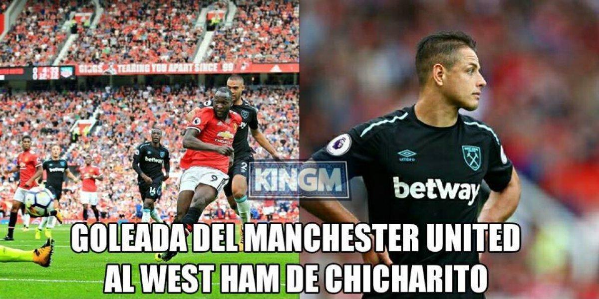 Memes de la goleada del Chicharito con el West Ham ante el Manchester United