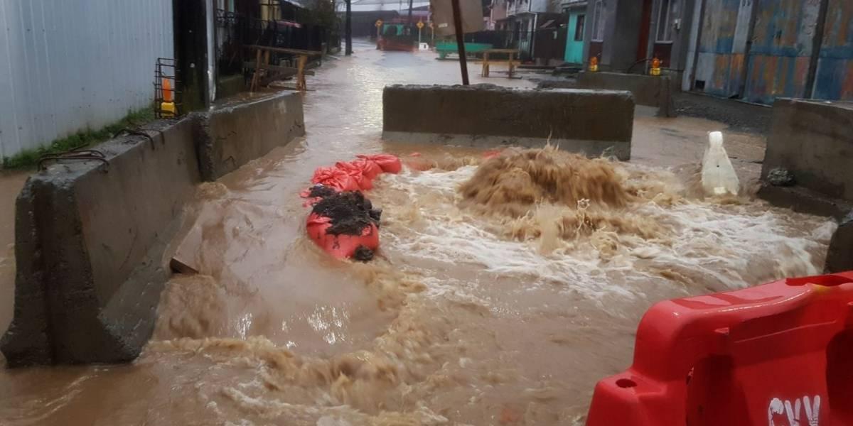 Onemi balance por lluvias en Biobío: 9 daminificados y 33.292 clientes sin luz