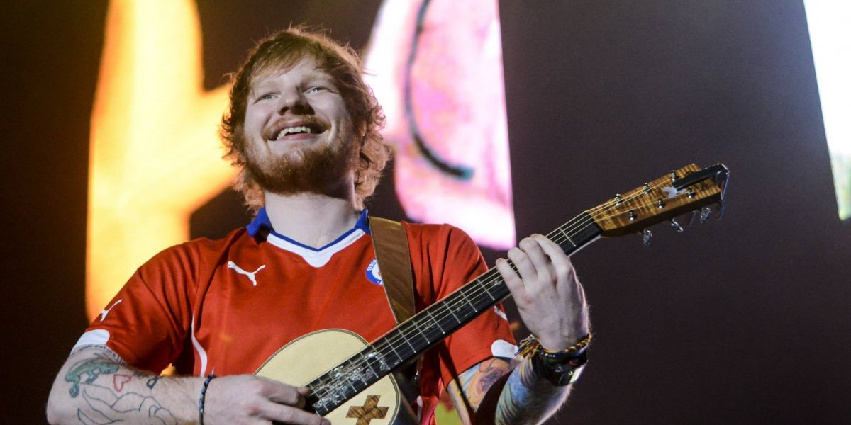 Ed Sheeran sufre accidente en bicicleta
