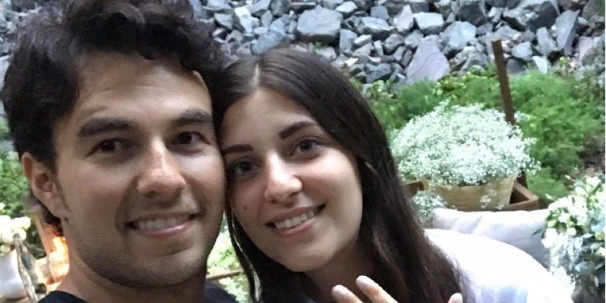 FOTO: Novia de Checo Pérez revela fecha de la boda