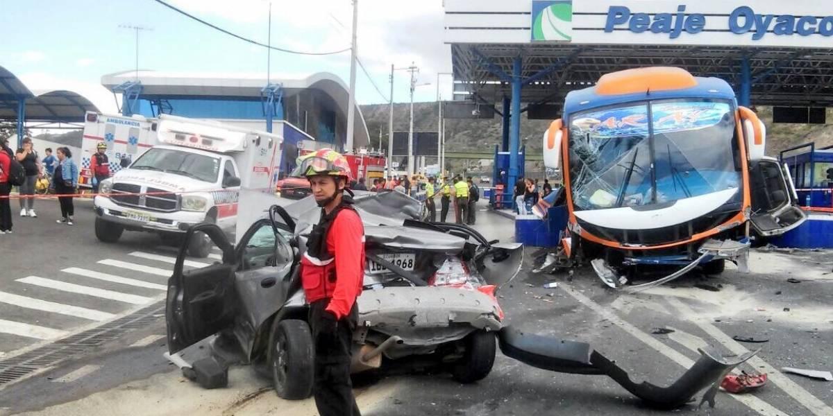 Cinco heridos dejó accidente de tránsito en Oyacoto