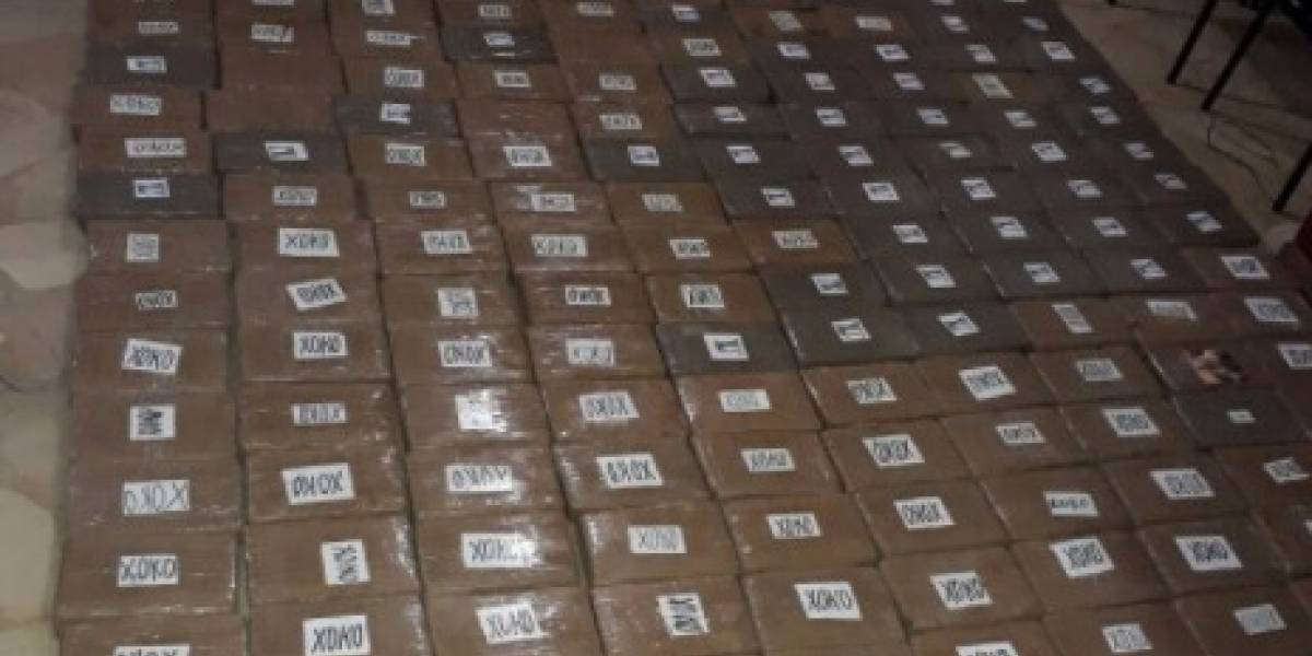 1,4 toneladas de droga fueron decomisadas en Quevedo