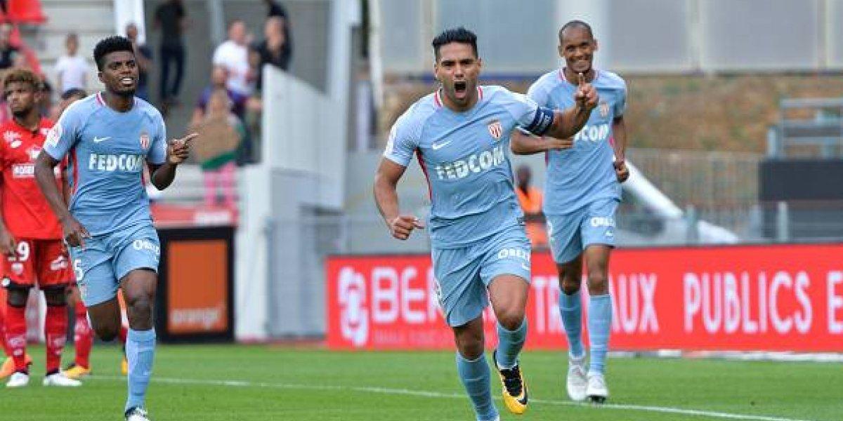 Falcao se luce con golazo y hat-trick en triunfo del Mónaco