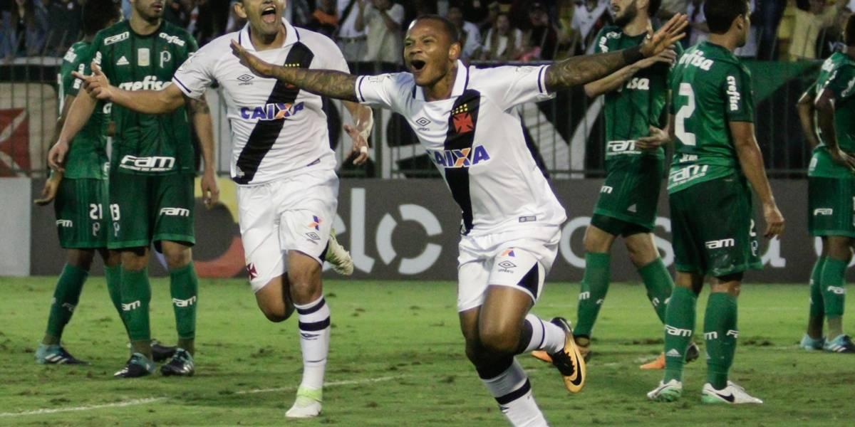 Vasco e Palmeiras fazem partida fraca e empatam por 1 a 1 pelo Brasileirão