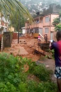 Deslaves e inundaciones en Sierra Leona