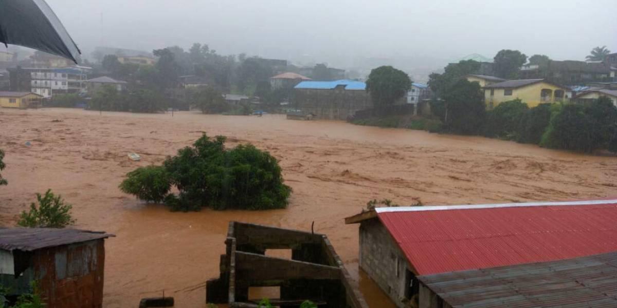 Inundaciones en Sierra Leona acaban con el país: van más de 300 muertos y 600 heridos