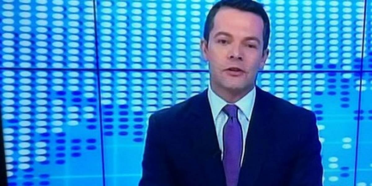 Video: Así fue el debut de Iván Lalinde como presentador de noticias serias