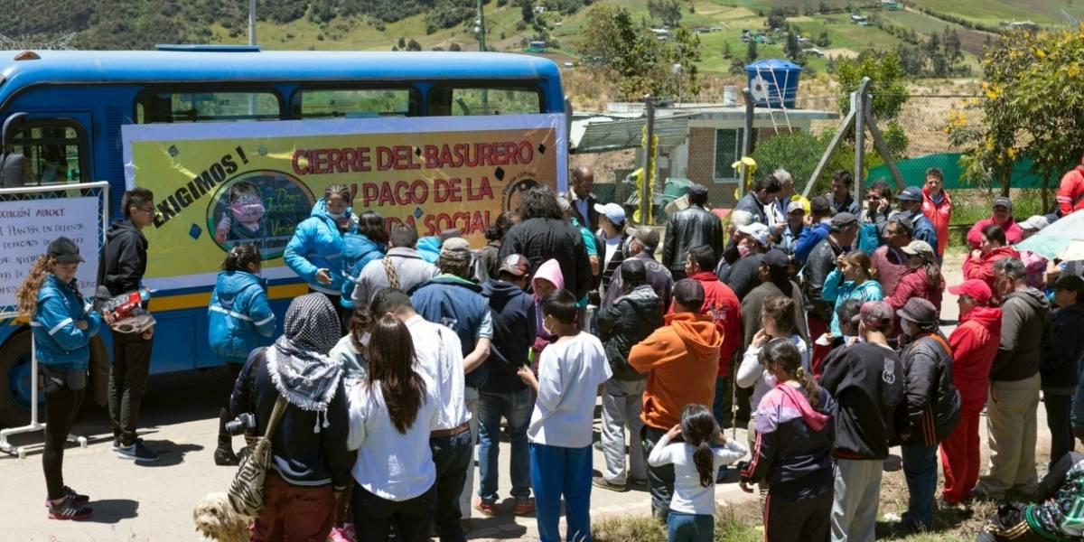 Muere menor en medio de protestas en el relleno Doña Juana