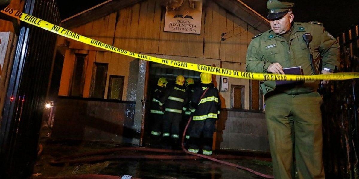 Padre Las Casas: sospechoso por quemar un templo deberá volver a prisión tras decisión de Corte de Apelaciones
