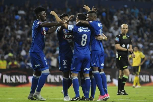 Emelec ganó 2-0 a Fuerza Amarilla en el estadio George Capwell