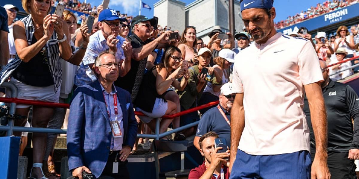 Roger Federer se baja del Masters 1000 de Cincinnati