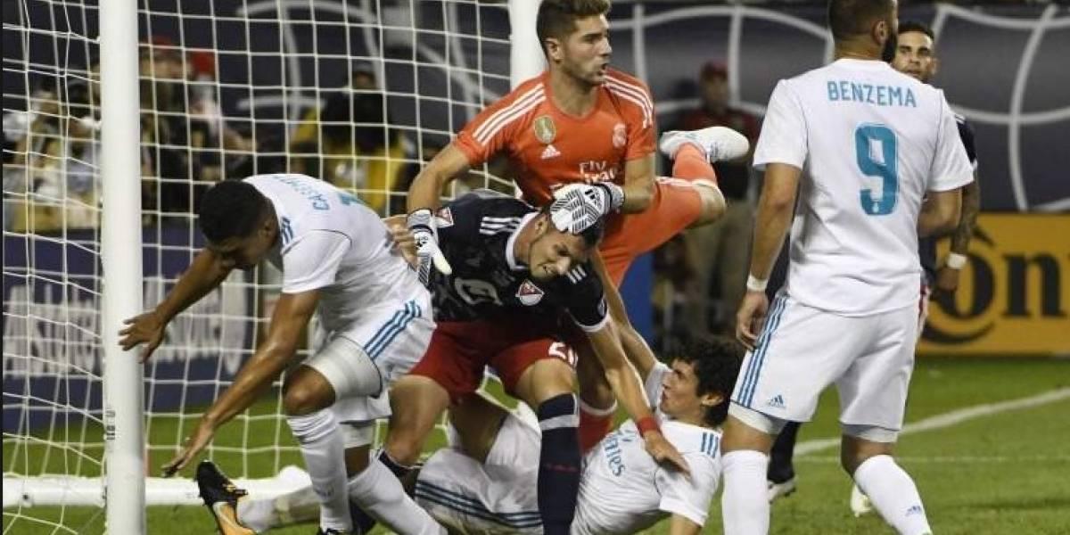 Lo que mira un árbitro durante un partido de futbol