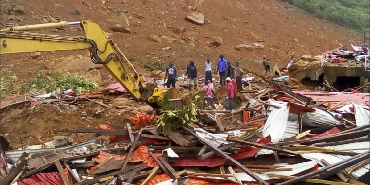Al menos 250 muertos por deslaves en Sierra Leona