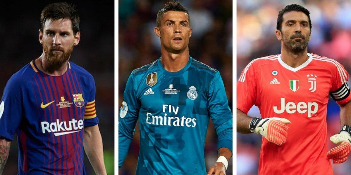 Cristiano, Messi y Buffon, candidatos al mejor jugador de la UEFA