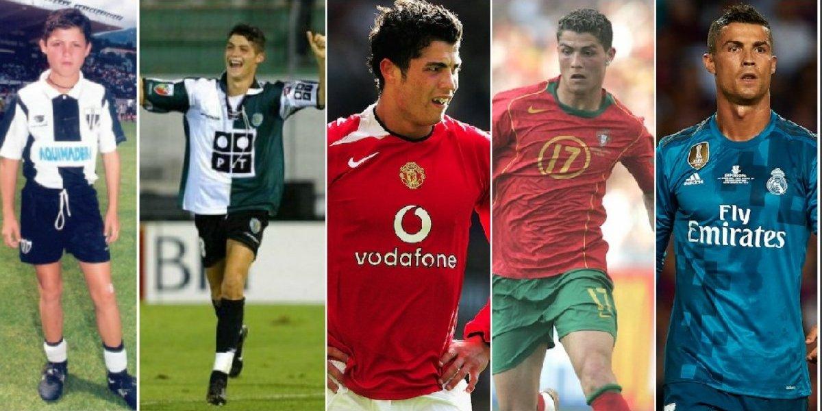 Antes y después: Cristiano Ronaldo celebra 15 años como profesional