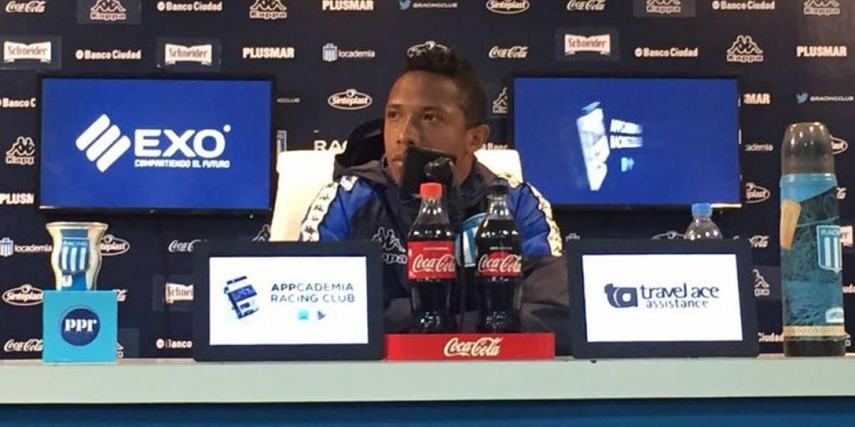 Andrés Ibargüen, pelea y lágrimas en su entrenamiento en Racing