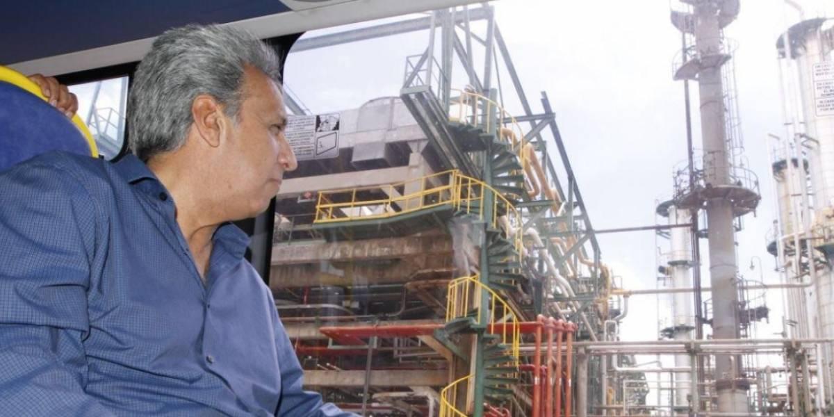 Presidente Lenín Moreno visitó la Refinería de Esmeraldas