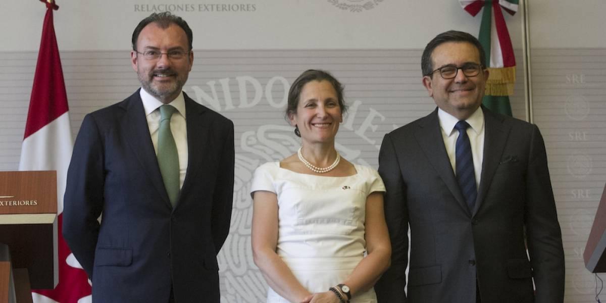 México y Canadá se reunirán a un día de la renegociación del TLCAN