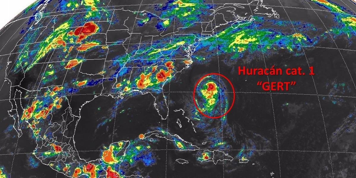 Gert se convierte en huracán categoría 1 lejos de costas mexicanas