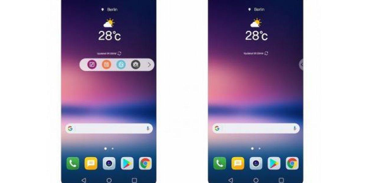 LG V30 reemplazará pantalla secundaria con una barra flotante