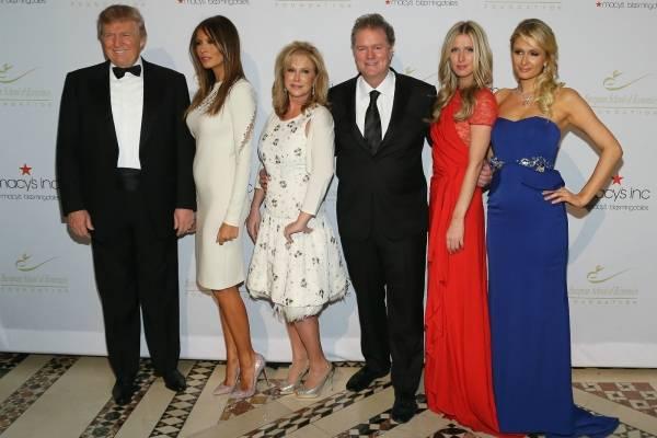 Paris Hilton y Donald Trump amistad