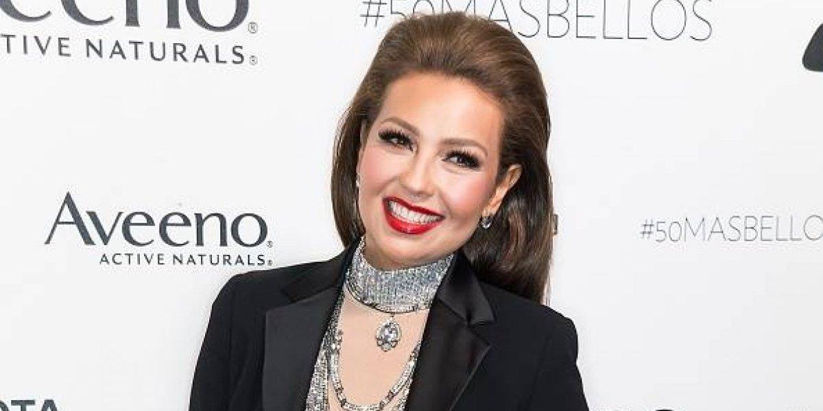 Esposo de Thalía comparte una foto de ella y revela cómo luce su rostro sin maquillaje