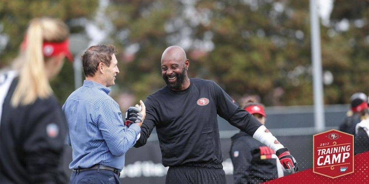 VIDEO: Jerry Rice y Steve Young regresaron a entrenar con los 49's