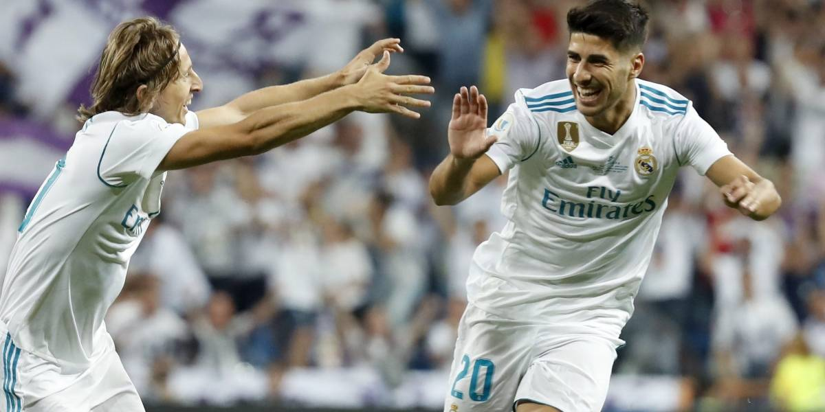 Marco Asensio le da al Real Madrid la Supercopa de España