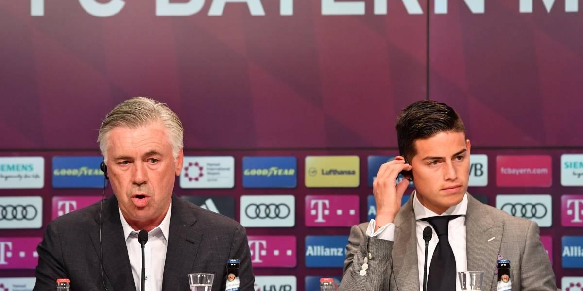 James está en duda para el segundo partido de la Bundesliga