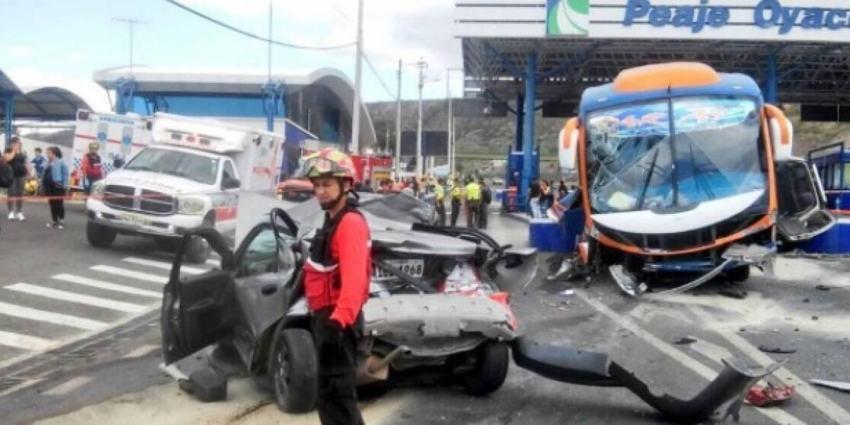 Se viraliza video del accidente en Oyacoto
