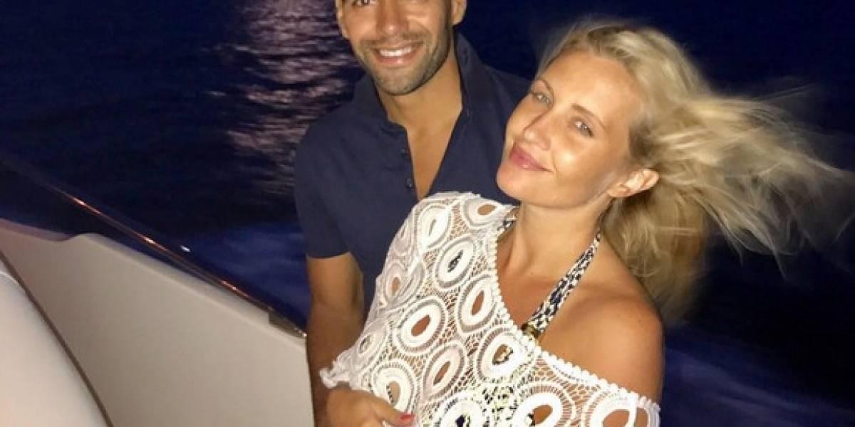 Radamel Falcao celebra este jueves el nacimiento de su tercera hija