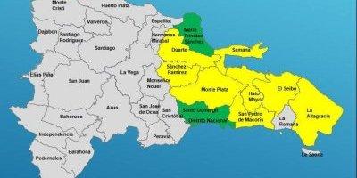 COE declara alerta verde para ocho provincias por lluvias