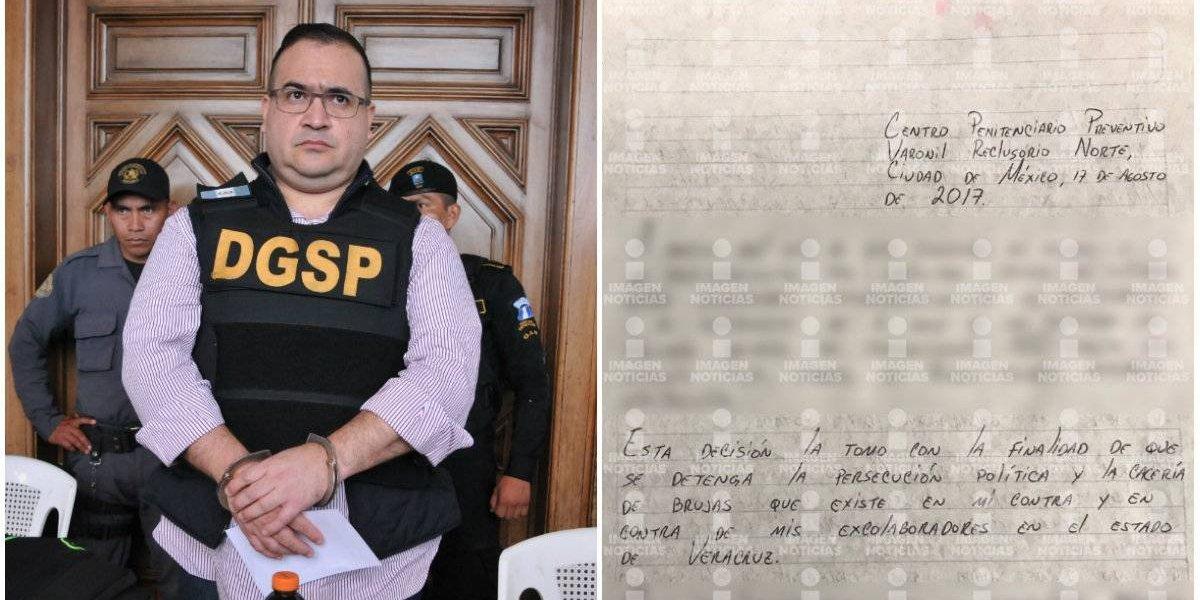 Duarte anuncia huelga de hambre en el Reclusorio Norte