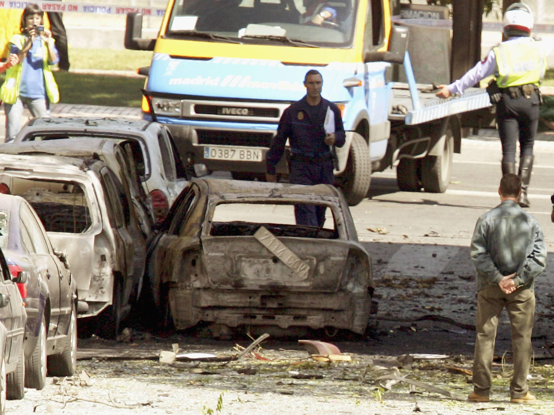 Coche bomba utilizado por ETA.